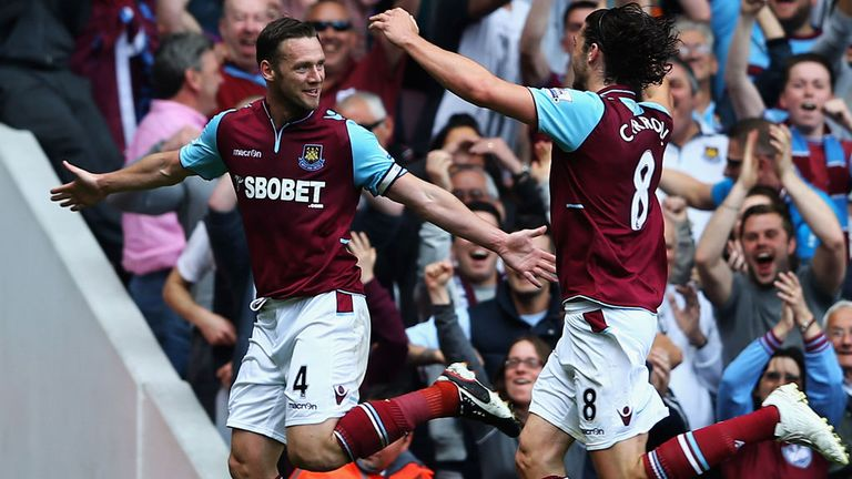 Kevin Nolan: Scored a hat-trick to become West Ham's leading goalscorer this season.