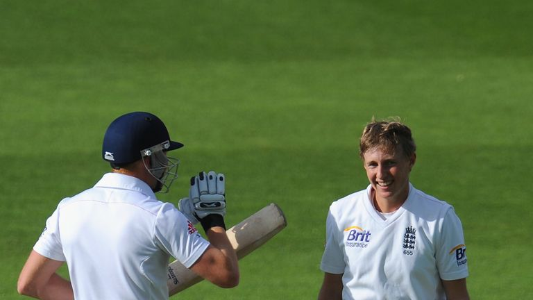 Joe Root and Jonny Bairstow: Shared a key partnership for England