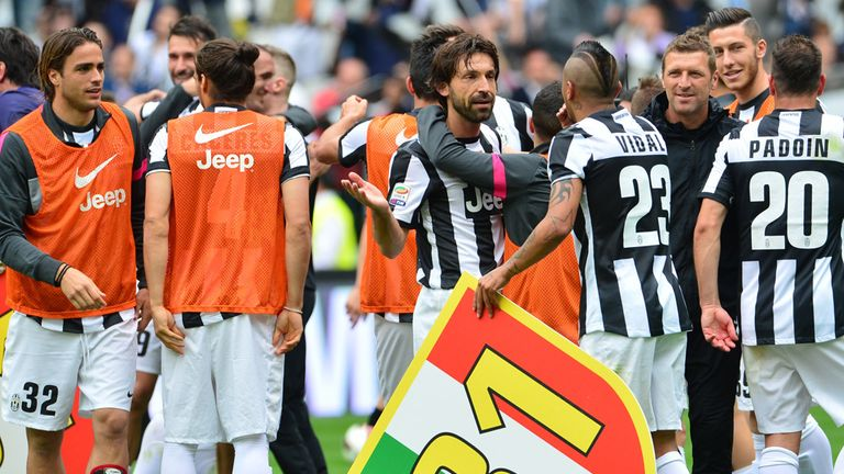 Juventus celebrate '31' titles but they were stripped of their successes in 2005 and 2006 - and relegated along with two other clubs.