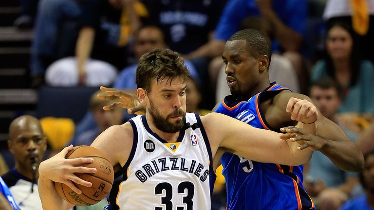 Marc Gasol scored 20 points as the Memphis Grizzlies saw off the Thunder on Saturday