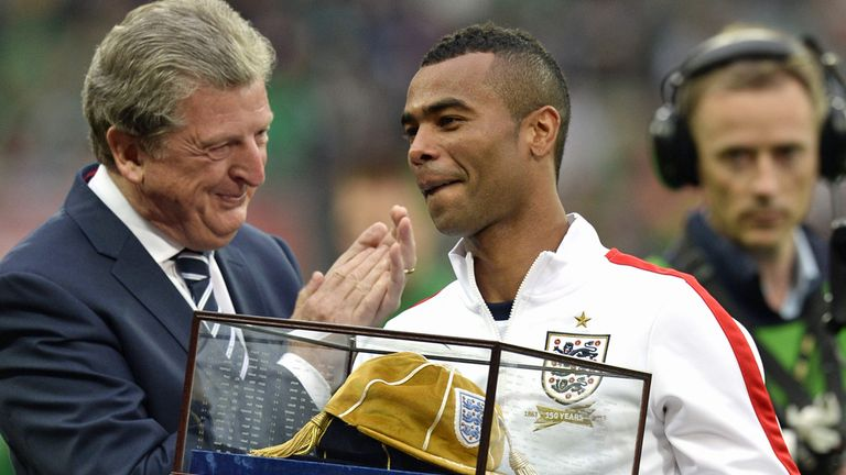 Ashley Cole: Enjoys receiving the gift from his England manager, Roy Hodgson