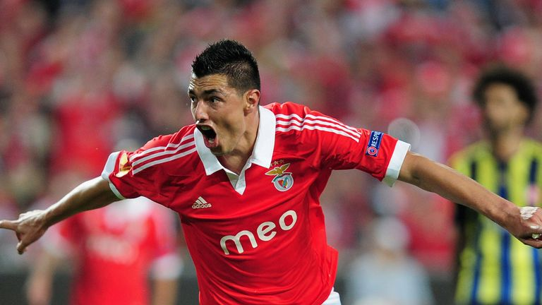 Oscar Cardozo: Bagged a brace for Benfica