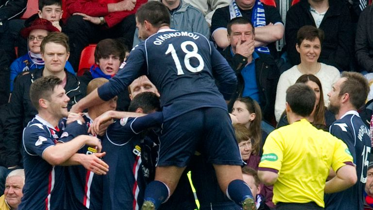 Ross County: Celebrate the only goal of the Highlands derby