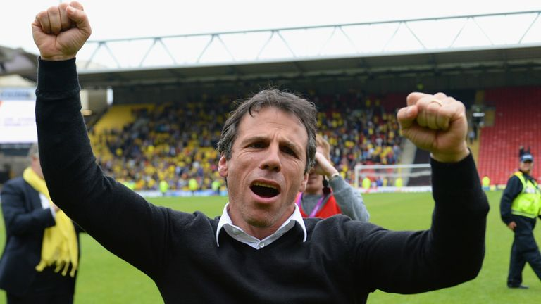 Gianfranco Zola: Hoping his Wembley successes can continue in the Championship play-off final