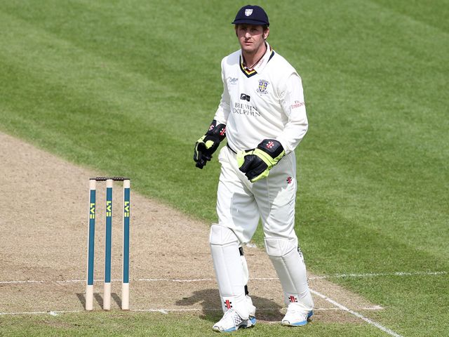 Mustard played his part in the end of Derbyshire's innings
