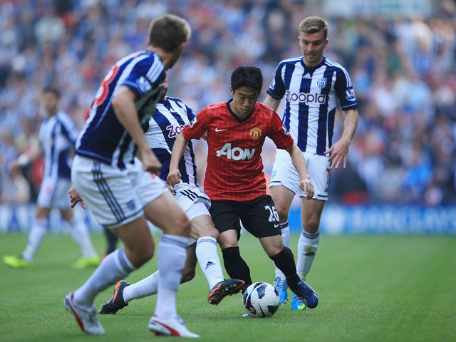 Shinji Kagawa in action.