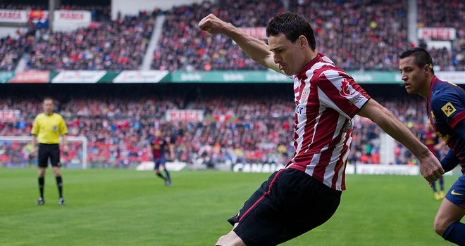 Aritz Aduriz gave Bilbao the lead and missed a penalty