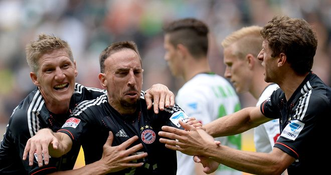 Franck Ribery: Scored two and set up two in Bayern win