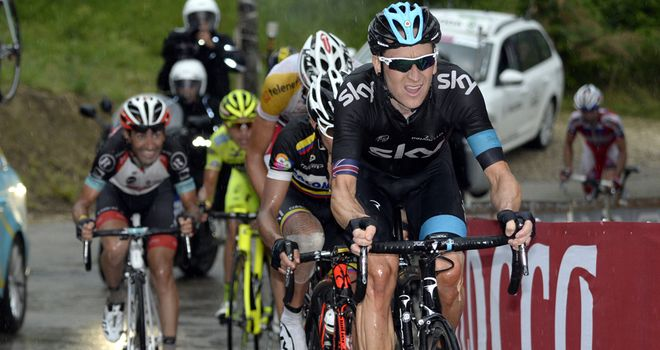Sir Bradley Wiggins was uninjured in his crash