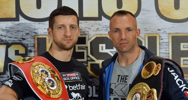 Carl Froch will stare down Mikkel Kessler at Friday's weigh-in