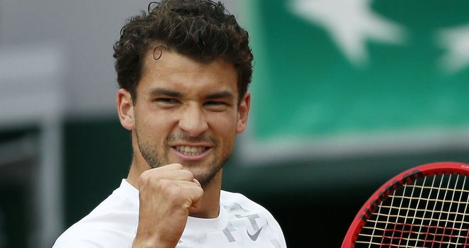 Grigor Dimitrov: Taken to three sets by Swedish Open wildcard Elias Ymer