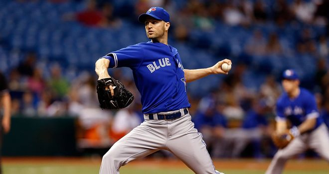 JA Happ: Watched on from the sidelines as his Blue Jays loss