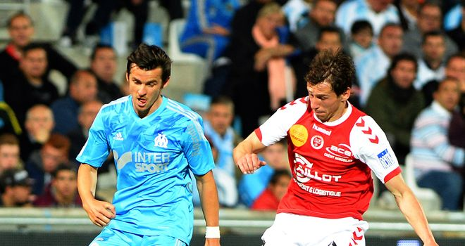 Joey Barton in action for the final time in Marseille