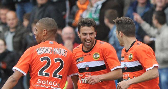 Lorient celebrate against St Etienne