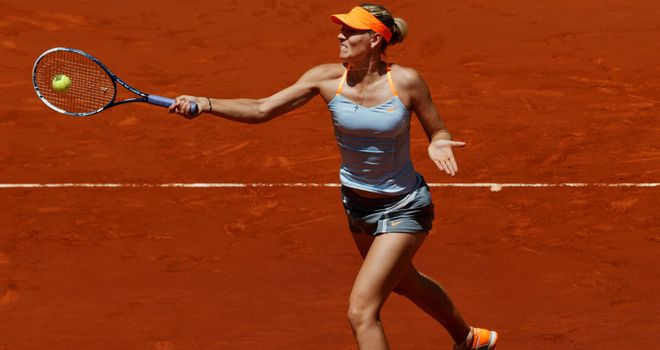 Maria Sharapova: Recorded her 500th career win to move into final