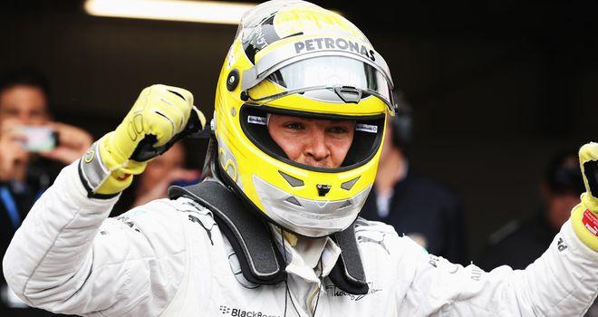 Nico Rosberg: On pole position in Monaco