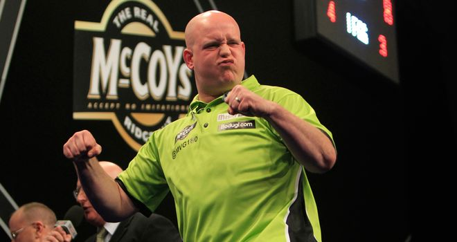 Michael van Gerwen: Will face James Wade in the last four on Finals Night