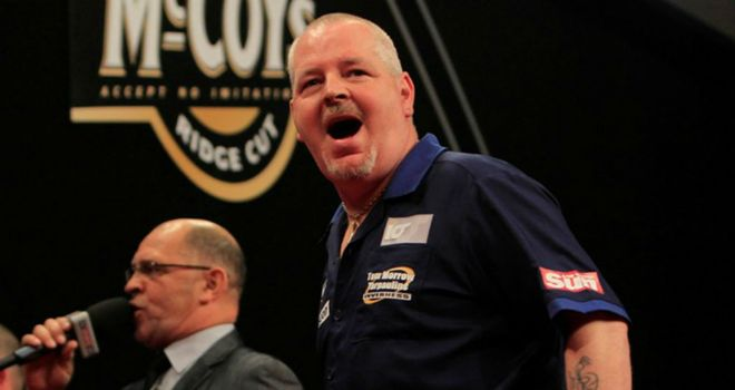 Robert Thornton: Already beaten Phil Taylor once this season (Pic: Lawrence Lustig/PDC)