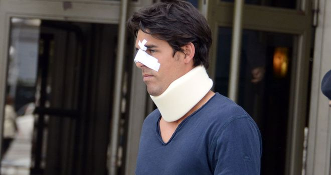 Thomas Drouet outside court on Monday