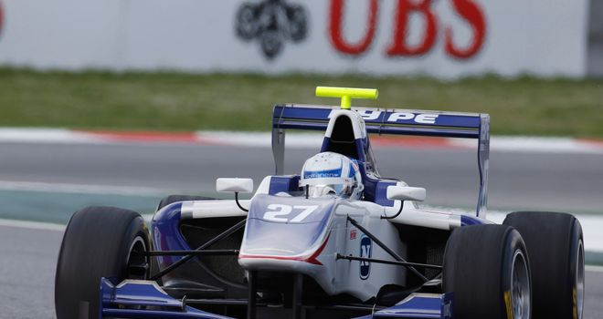 Aaro Vainio: Took victory in Race Two (Image: GP3 Series Media)