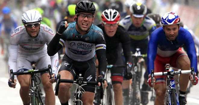Mark Cavendish claimed his 100th professional victory