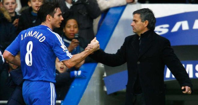 Frank Lampard (left): Won the Premier League twice under Mourinho