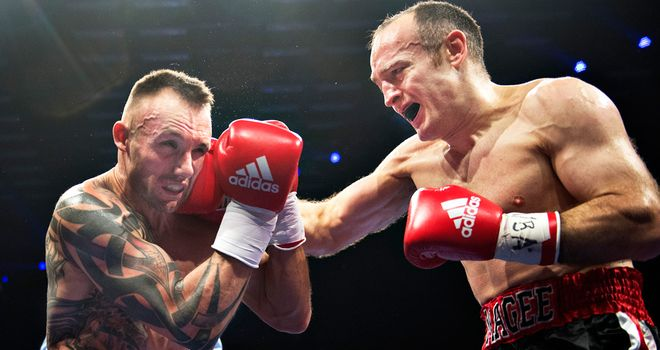 Brian Magee (r): In action against Mikkel Kessler