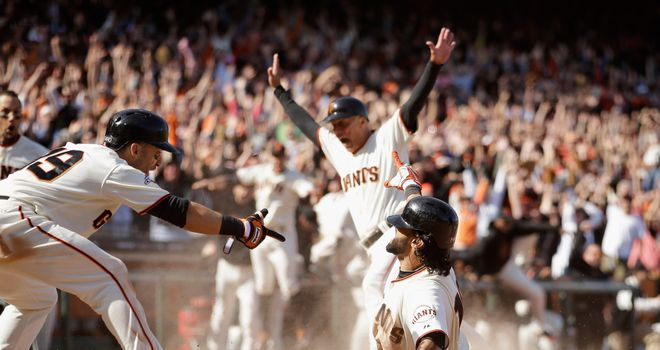 San Francisco beat the Colorado Rockies in extra innings courtesy of Angel Pagan's walk-off inside-the-park home run