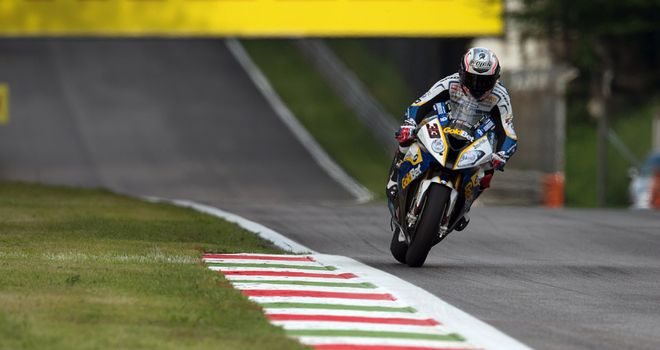 Marco Melandri: Fastest in first qualifying at Monza