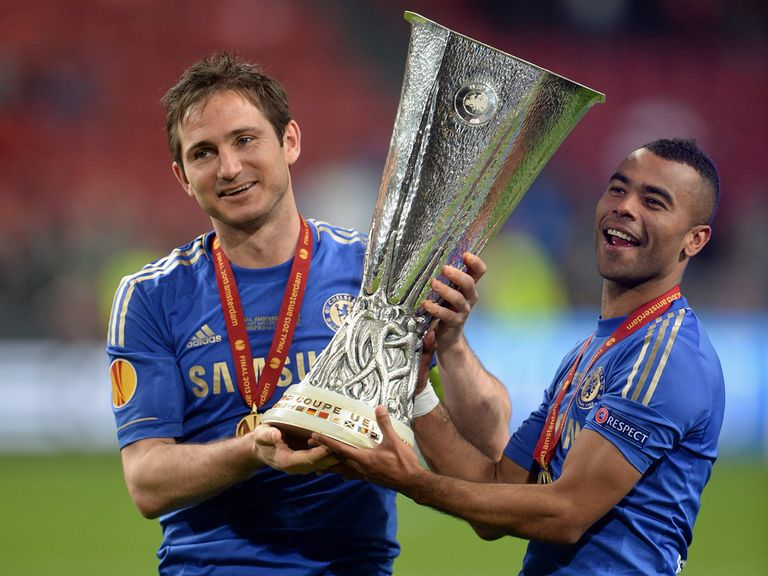 Lampard and Cole: Europa League winners