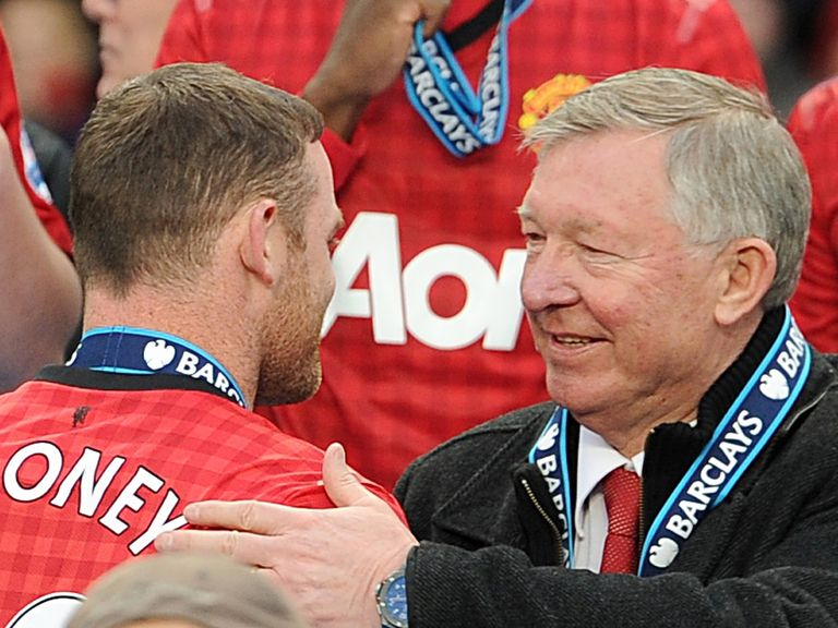Wayne Rooney and Sir Alex Ferguson at the end of last season.