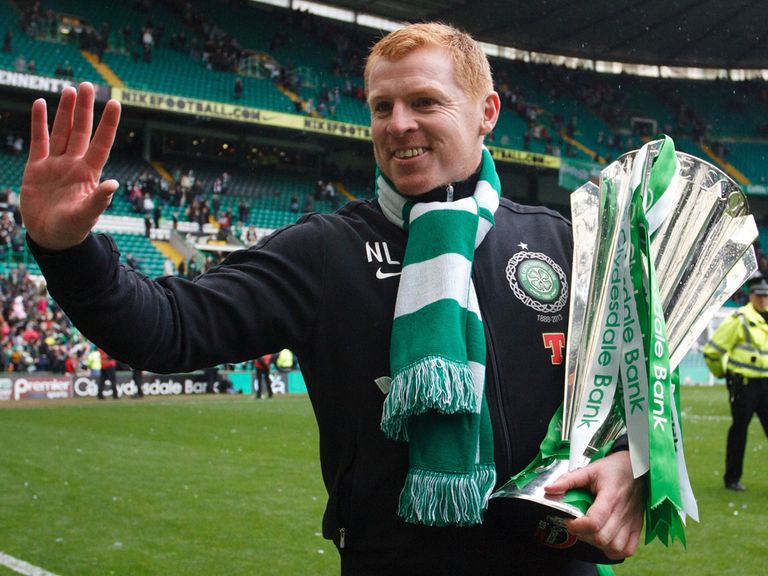 Neil Lennon: Celtic boss with the Scottish Premier League trophy