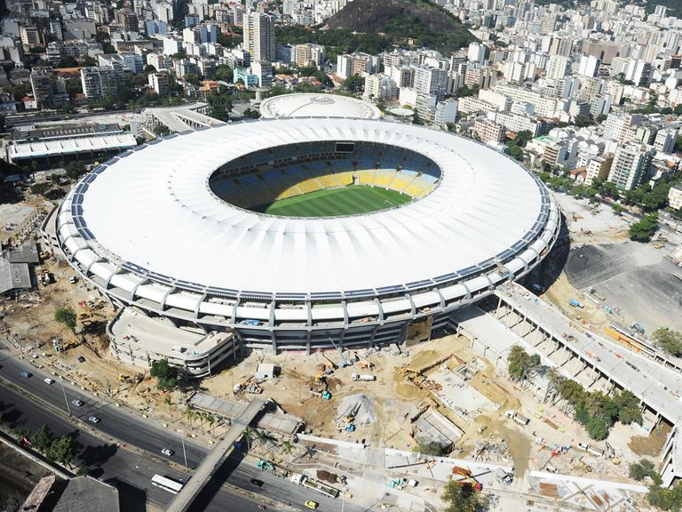 The Maracana stadium in Rio will stage the World Cup final on July 13