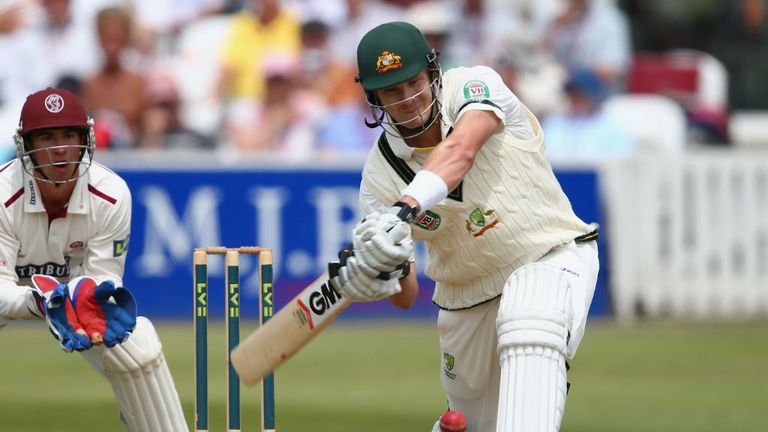Shane Watson: Hit 90 runs for the tourists in the warm-up fixture against Somerset