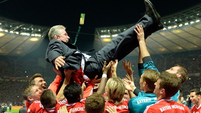 Jupp Heynckes and Bayern Munich completed their treble