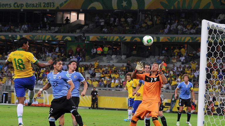 Paulinho: Heads home Brazil's winner