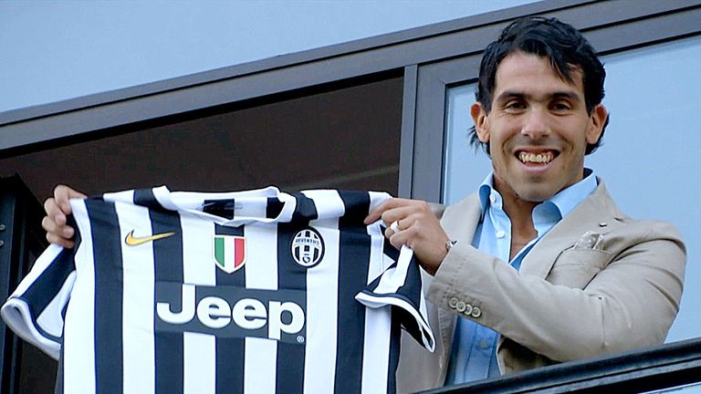 Carlos Tevez: Joined Juventus from Manchester City last month