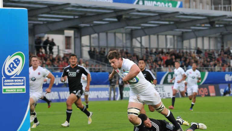 Matt Hankin scores against New Zealand (Photo: Michel Renac)
