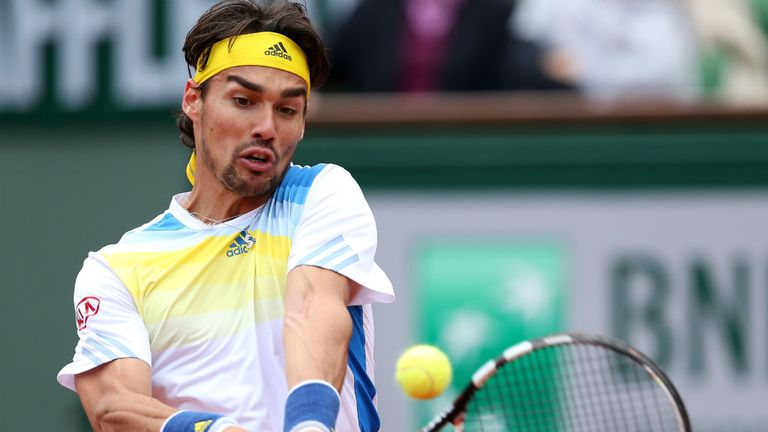 Fabio Fognini: Was on his way out of the St Petersburg Open before retiring hurt