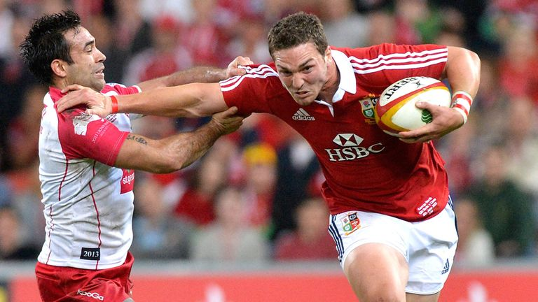 George North: Hands off his marker against the Queensland Reds