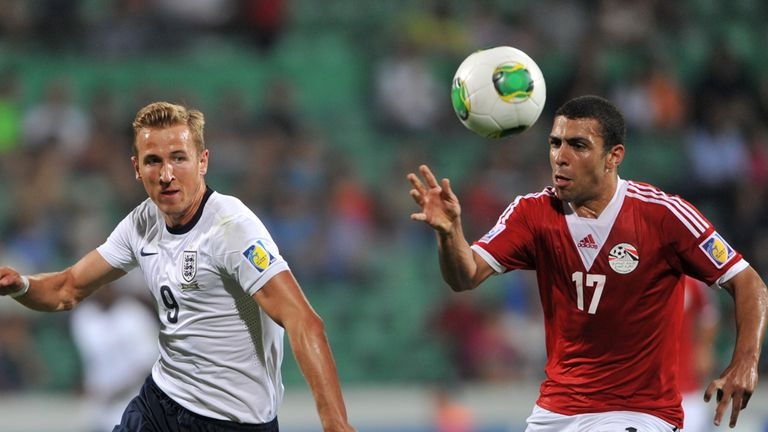 Harry Kane (left): Fluffed golden chance for England Under-20s