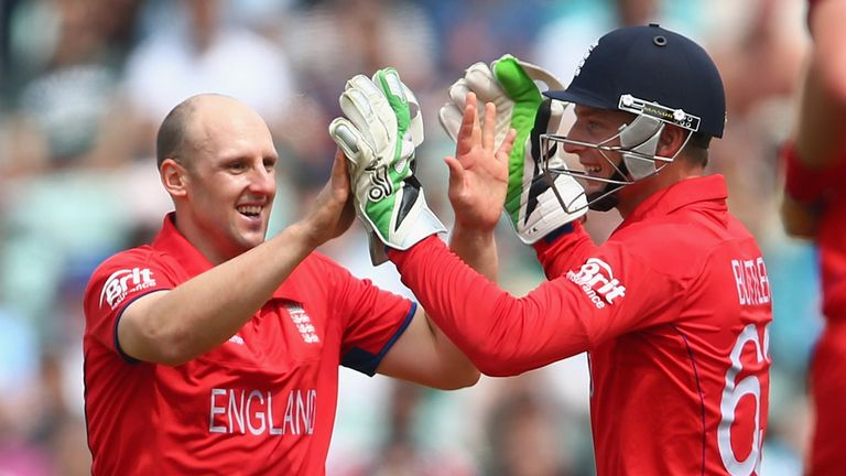 James Tredwell (L): Will lead England after injury to Eoin Morgan