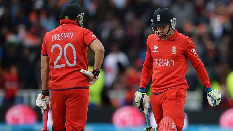Buttler: trudges off after his golden duck