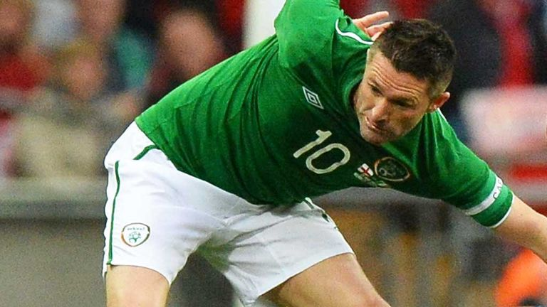 Robbie Keane: In action during Ireland's 1-1 draw against England
