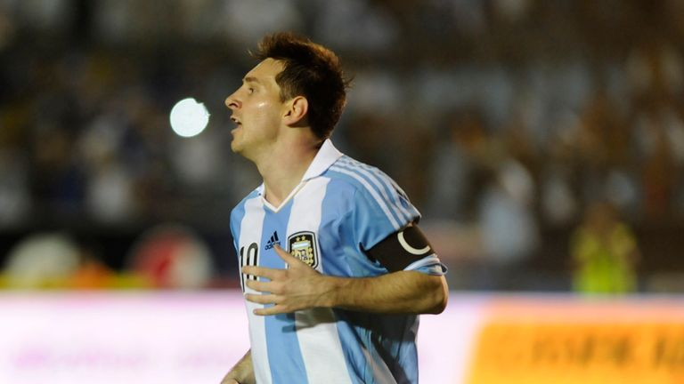 Lionel Messi: Hit three for Argentina