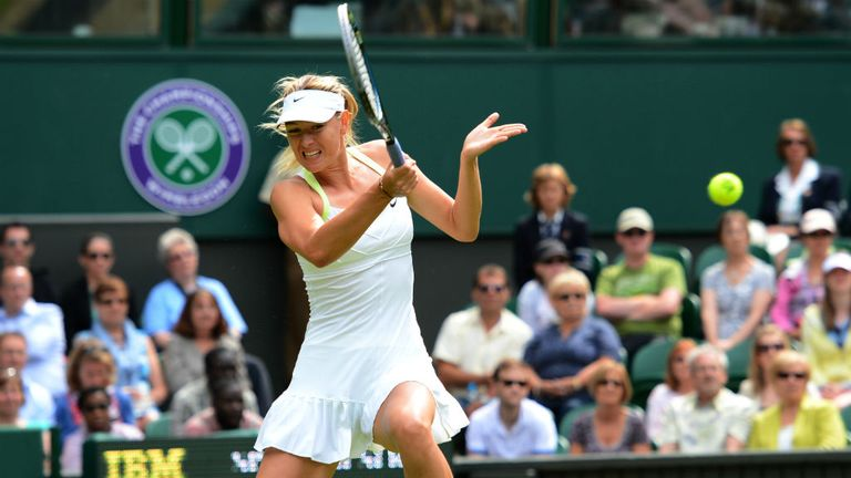 Maria Sharapova is safely through to round two at Wimbledon