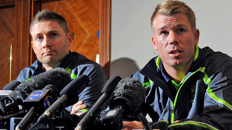 David Warner (right) helped Anglo-Aussie relations