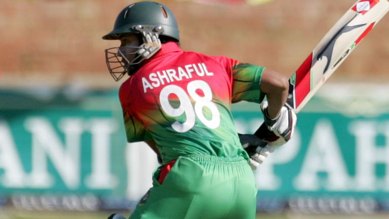 Mohammad Ashraful batting earlier this year against Zimbabwe