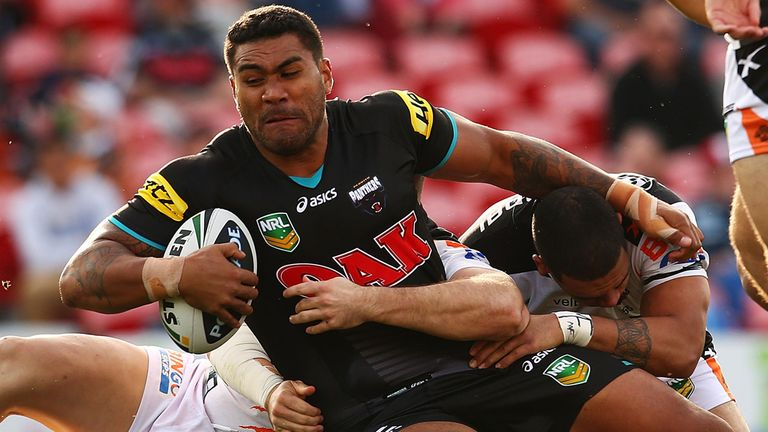 Mose Masoe in action for Penrith Panthers