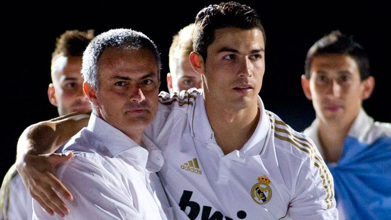 Cristiano Ronaldo worked under Mourinho at Real Madrid between 2010 and 2013